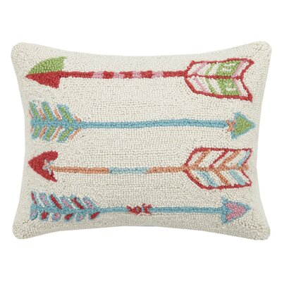Arrow Wool Lumbar Pillow