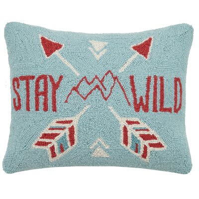 Stay Wild Wool Lumbar Pillow