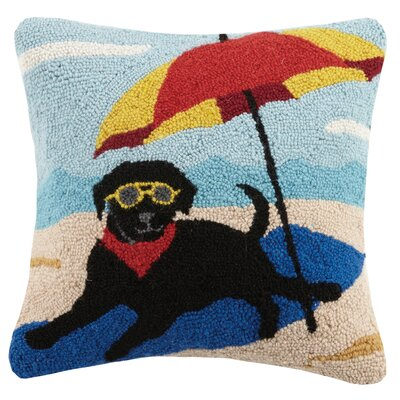 Lab Umbrella Wool Throw Pillow