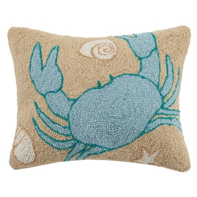 Sandy Crab Wool Lumbar Pillow