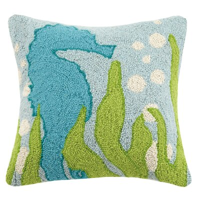 Seahorse Wool Throw Pillow