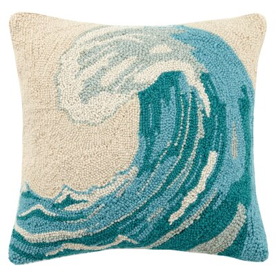Tidal Wave Wool Throw Pillow