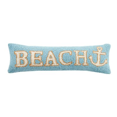 Beach Anchor Wool Lumbar Pillow
