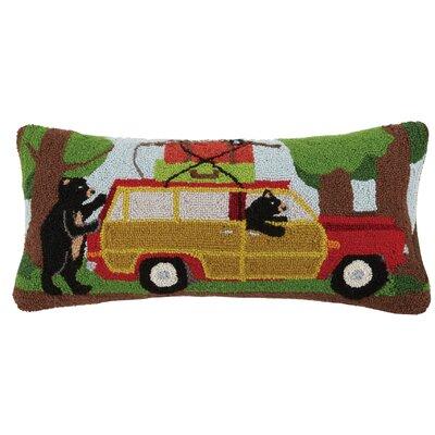 Vacation Bear Wool Lumbar Pillow