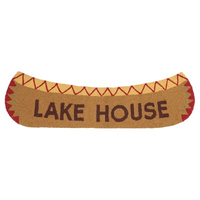 Lake House Hand-Woven Brown Area Rug