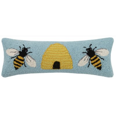 Bee & Hive Bee Hook 100% Wool Throw Pillow