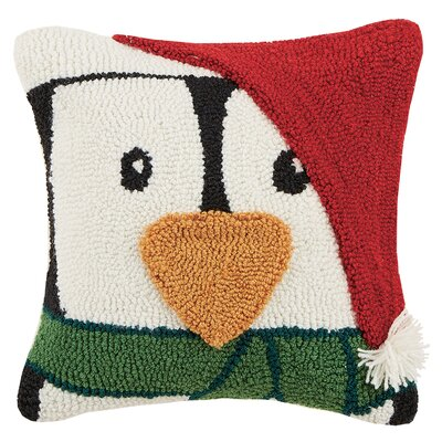 Penguin Hook Throw Pillow