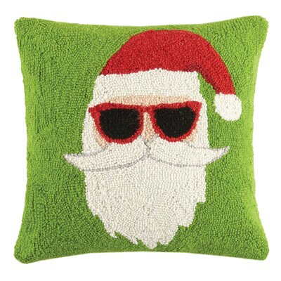 Santa Mustachio Holiday Hook Wool Throw Pillow