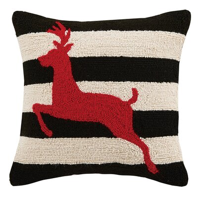 Reindeer Hook Wool Throw Pillow