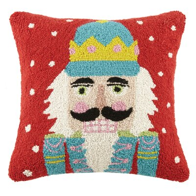 Modern Nutcracker Hook Wool Throw Pillow