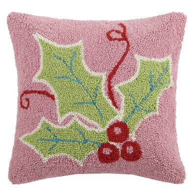 Holly Hook Wool Throw Pillow