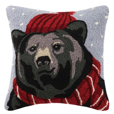 Bear Hook Wool Throw Pillow