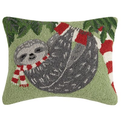Sloth Hook Wool Lumbar Pillow