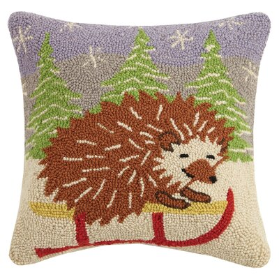 Hedgehog Hook Wool Throw Pillow