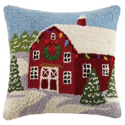 Winter Barn Hook Wool Throw Pillow