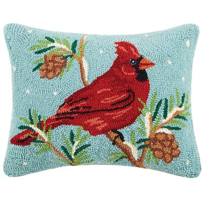 Cardinal Hook Wool Lumbar Pillow