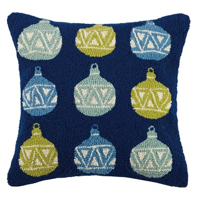 Ornaments Hook Wool Throw Pillow