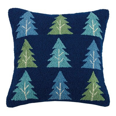 Trees Hook Wool Throw Pillow