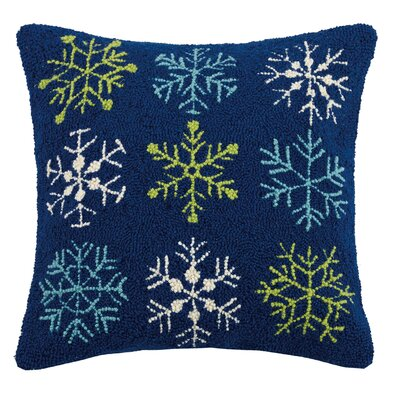 Snowflakes Hook Wool Throw Pillow