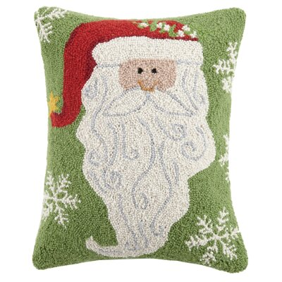 Beard Santa Wool Lumbar Pillow