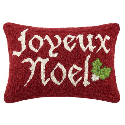 Joyeux Noel Hook Wool Lumbar Pillow