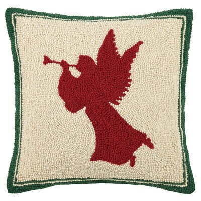 Angel Hook Wool Throw Pillow