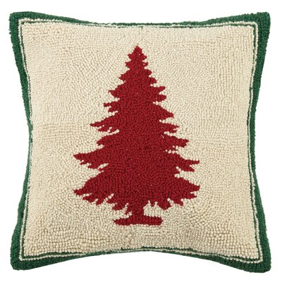 Tree Hook Wool Throw Pillow