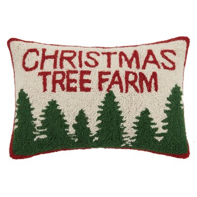 Tree Farm Hook Wool Lumbar Pillow