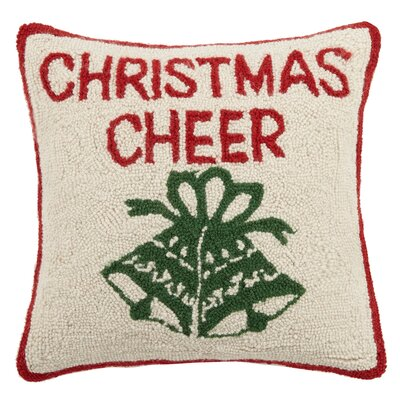 Christmas Cheer Hook Wool Throw Pillow