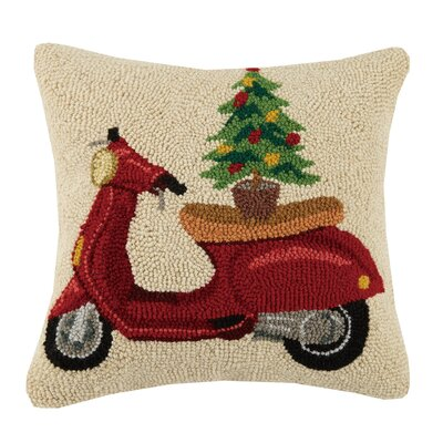 Scooter Wool Throw Pillow