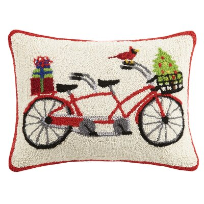 Tandem Bike Hook Wool Lumbar Pillow