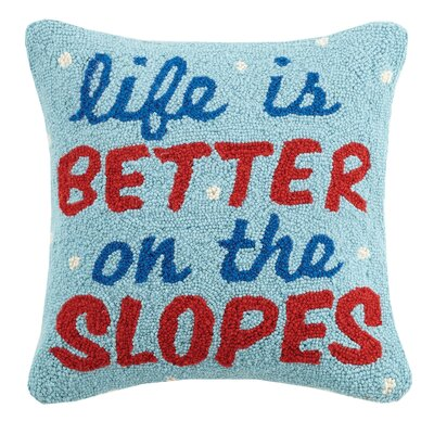 Life is Better on the Slopes Wool Throw Pillow