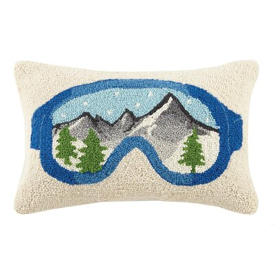 Cabin Ski Hook Pillows in Goggles Wool Lumbar Pillow