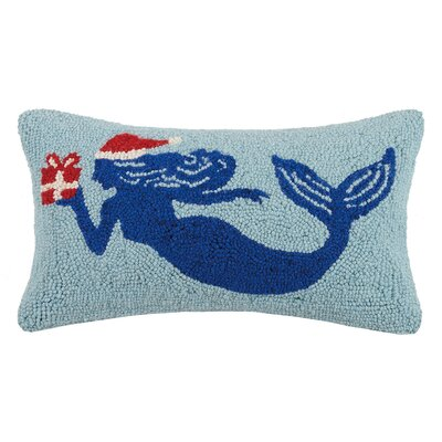 Island Christmas Mermaid Wool Lumbar Pillow