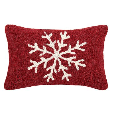 Snowflake Hook Wool Lumbar Pillow