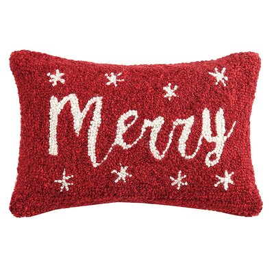 Merry Hook Wool Lumbar Pillow