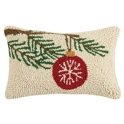 Ornament on Pine Hook Wool Lumbar Pillow