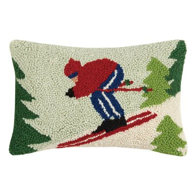 Skiier Hook Wool Lumbar Pillow