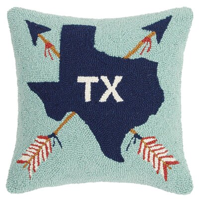 Dzwonkowski Texas State Icon Wool Throw Pillow