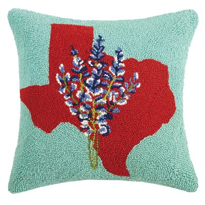 Cothran Texas State Icon Wool Throw Pillow