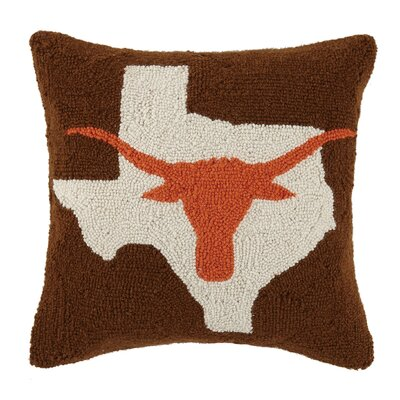 Texas Longhorn Hook Wool Throw Pillow