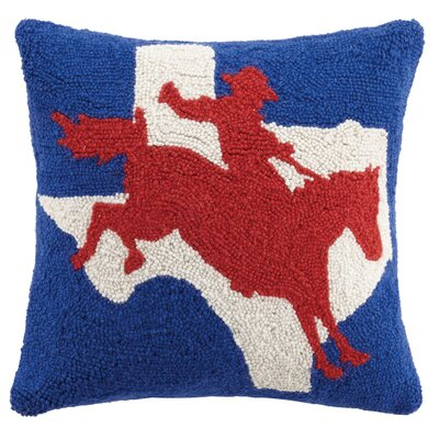 Zippelli Cowboy and Texas Wool Throw Pillow