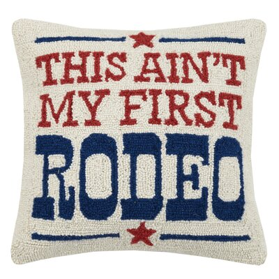 Introcaso Cowboy and Texas Wool Throw Pillow
