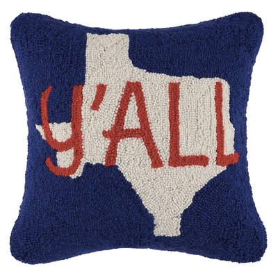 Toms Cowboy and Texas Wool Throw Pillow