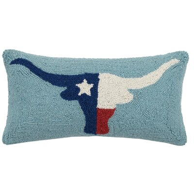 Defreest Longhorn Texas Flag Lumbar Pillow
