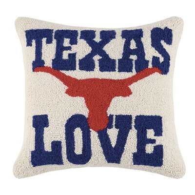Palmyra I Love Texas Wool Throw Pillow