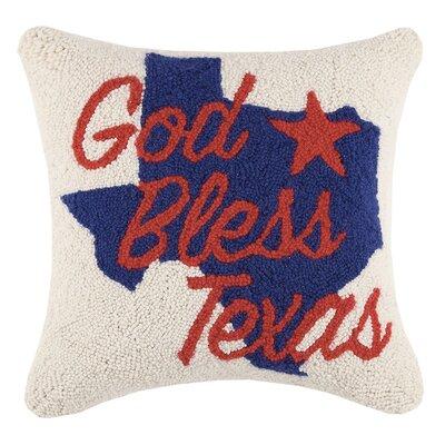 Arko God Bless Texas Hook Pillow Wool Throw Pillow