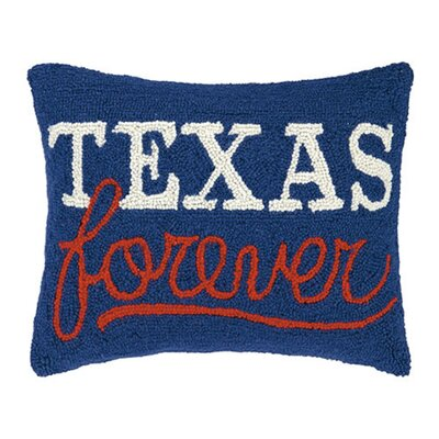 Forbush Texas Forever Hook Wool Lumbar Pillow