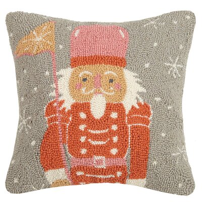Holiday Square Wool Throw Pillow