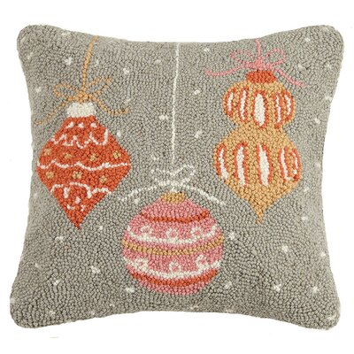 Modern Holiday Wool Throw Pillow